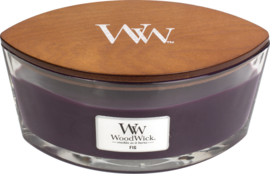 Fig Ellipse WoodWick® HeartWick Candle