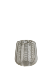 Windlicht Ø16,5x16,5 cm ADETA nikkel