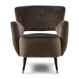 Laurel Armchair, velvet III, anthracite