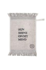 Gastendoek Sunshine 30x55cm grijs