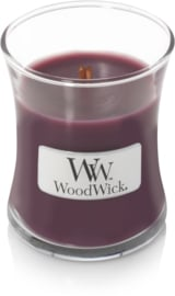 Dark Poppy Mini Candle WoodWick© 20h.