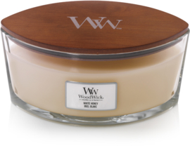 White Honey Ellipse WoodWick® HearthWick Candle