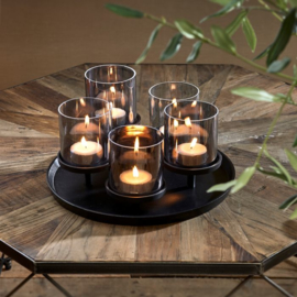 Porto Candles Tray black