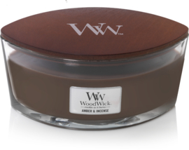 Amber & Incense Ellipse WoodWick® HeartWick Candle