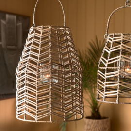 Sunset Breeze Herringbone Lantern M