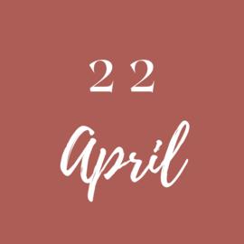 Donderdag 22 April