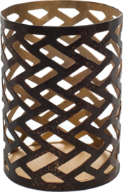Petite Candle holder Herringbone WoodWick®