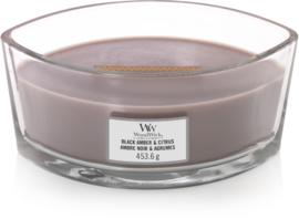 Black Amber & Citrus Ellipse WoodWick® HearthWick Candle