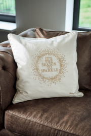 RM It's The Season To Sparkle Pillow Cover gold 50x50
