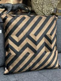 Cushion graphic black/copper CO 50x50