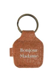 Winkelwagenmuntje bruin gevlokt Bonjour Madame