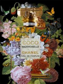 Glasschilderij Coco Mademoiselle Flowers 60x80cm