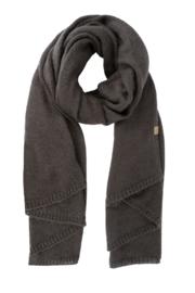 Warme brei sjaal grafietgrijs