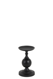 Kandelaar Ø17x29 cm LESANE mat zwart