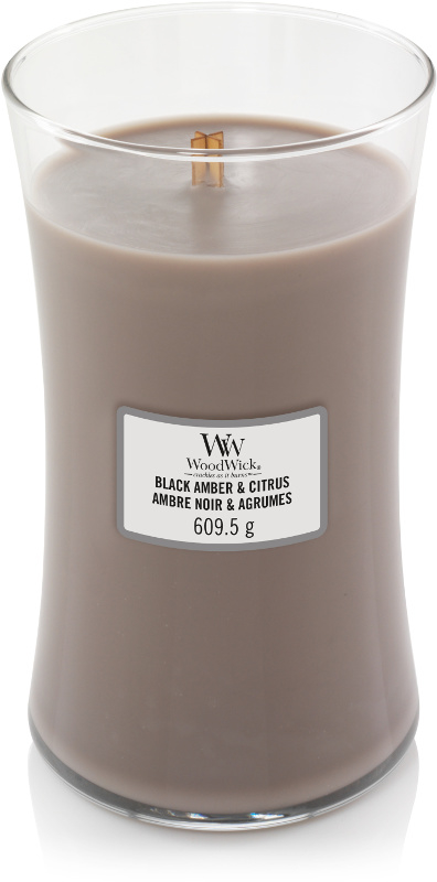 Black Amber & Citrus Large Candle WoodWick®