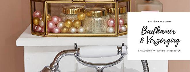 Heerlijk thuis ontspannen met de verzorgende producten van Rivièra Maison. In de collectie bij Kloosterhuis Wonen vindt u ook een ruim aanbod badkameraccessoires waarmee u uw badkamer omtovert tot een prachtige ruimte waar het heerlijk relaxen is.