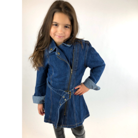 Zipped denim jacket