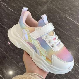 White rainbow sneakers