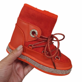 Red bling boots