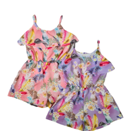 Girly leafs playsuit