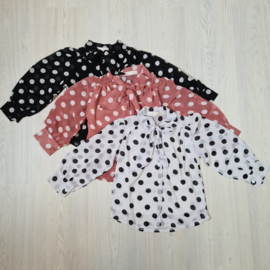 Dots & a bow blouse