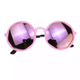 Round mirror sunglasses - pink