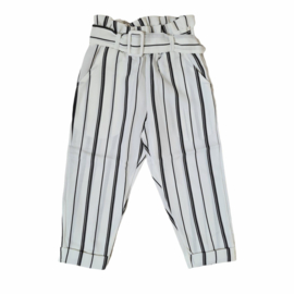 Striped white pantalon