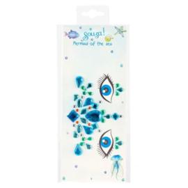 Gezichtssteentjes - blauw