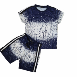 Boys blue spatter set