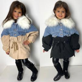 Jeans & Fur jacket