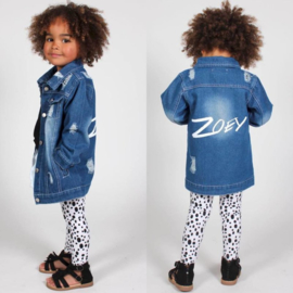 Donkerblauw distressed denim (Gepersonaliseerd)