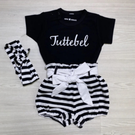 Tuttebel & striped bloomer set