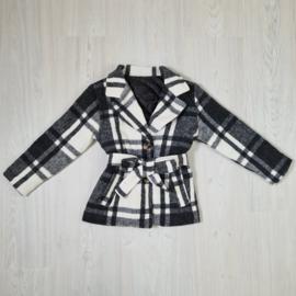 Blocked black & white jacket