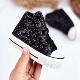 Black glitter high walker