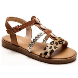 Shells & Leopard sandals