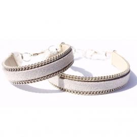 Grey chain bracelet