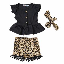 Black & Leopard set