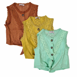 Colored lace top