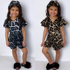 Leopard playsuit & headband