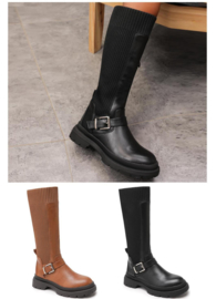 Buckle high boots