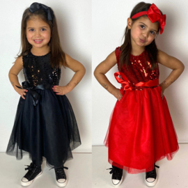Red or Black Paillet dress