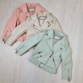 3 Colors leather  jacket