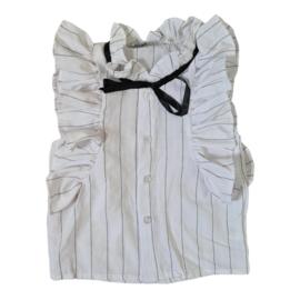 Ruffled office blouse