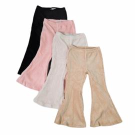 4 colors corduroy flair pants