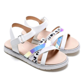 A little bit of everything white sandals