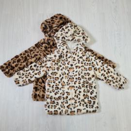 Zipped leopard jacket