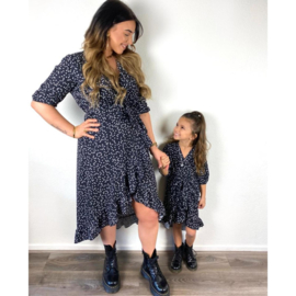 Black dress with hearts - Mommy & me