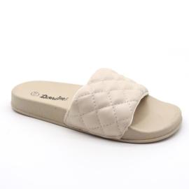 Quilted slipper - Beige