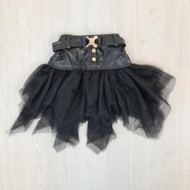 Leather & Tule skirt