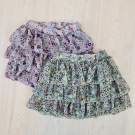 Lila or green flower skirt